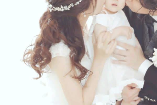 パパママ婚の誓いのキス