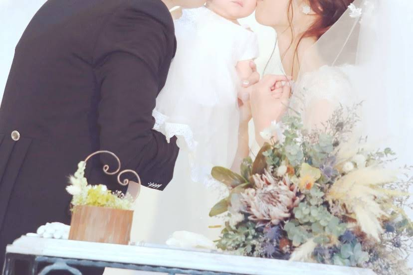 パパママ婚誓いのキス