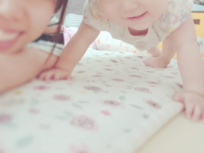 私と娘の笑顔
