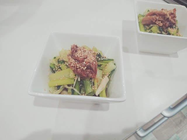 小松菜とえのきの焼き浸し
