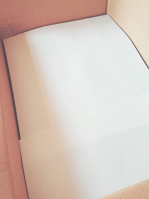 席札の上にコピー用紙
