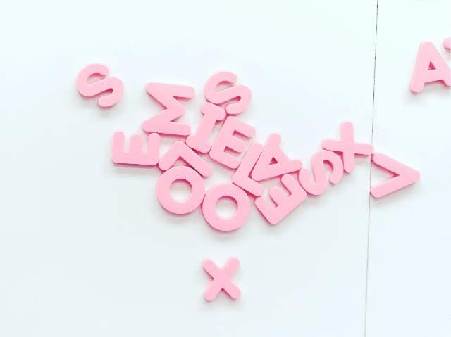 ピンクのABC